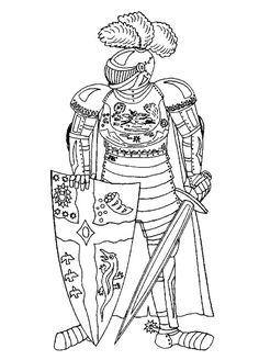 Раскраски рыцари | Детвора Онлайн