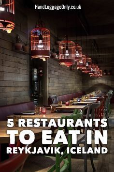 5 Unique Restaurants...