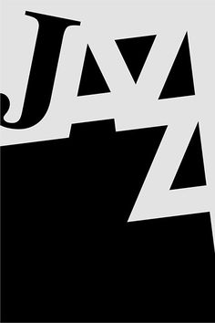 Jazz in black and White Typography Prints, Graphic Design Typography, Logo Design, Lettering, Typography Inspiration, Graphic Design Inspiration, Typographie Fonts, Festival Jazz, Jazz Poster