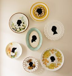 Simple DIY vintage silhouette plates! Cute!