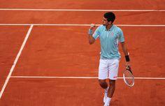 Toute la détermination de Novak Djokovic.