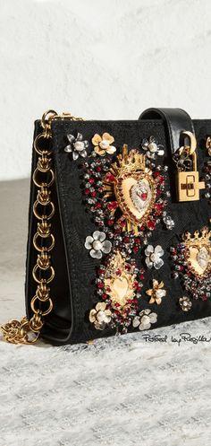 "iamlookingbackatyou:  "" Dolce & Gabbana  Gem-studded handbag  """