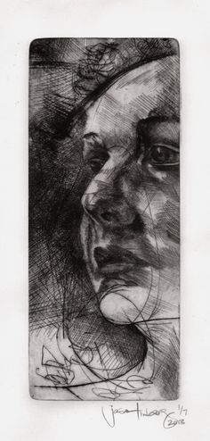 Original Hand Pressed Drypoint Etching of by JasonLimbergDraws, $45.00 love the use of tone to create depth