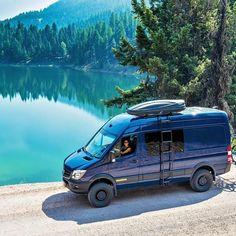 Sprinter van build with Aluminess ladder in Whitefish, Montana👍 . 4x4 Camper Van, 4x4 Van, Off Road Camper, Camper Life, Mercedes Sprinter Camper, Benz Sprinter, Sprinter Van Conversion, Camper Van Conversion Diy, Mercedes Van