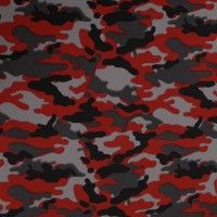 "A Camouflage Dimple Mesh Knit Fabric. This medium weight fabric is thin, smooth and has stretch across the fabric for added comfort and fit. 2-way stretch, stretch is vertically. Its width is 58/60"" and weighs 180 GSM. 100% Polyester. This fabric is an ideal choice for athletic apparel such as shorts, pants, jogging suits, shirts, DIY Projects and so much MORE!!! https://www.stylishfabric.com/red-camouflage-dimple-mesh-poly-stretch-sports-knit-fabric.html"