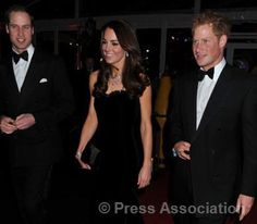 William, Catherine, and Harry