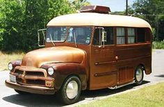 Old bus into a camper!! like! :)