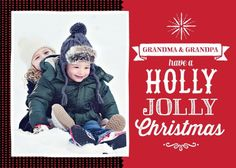 Truly Jolly - Christmas Greeting Cards in Winterberry or Green | Brejer