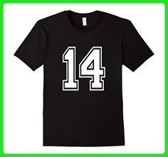 Mens Number 14 T Shirt Age Sports Player Jersey Number Large Black - Sports shirts (*Amazon Partner-Link)