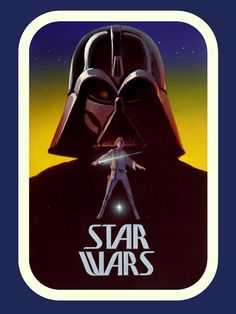 """ANH: This is one of Ralph McQuarrie's early concept posters for the original Star Wars movie (later called """"Episode IV: A New Hope"""")."""