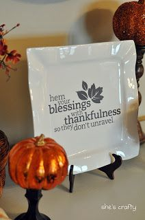 Great gratitude quote with pumpkin for Halloween and thankfulness for Thanksgiving! Happy Fall.