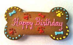 dog bone shape birthday cake - Bing images