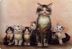 gatti vestiti da personaggi famosi illustrazioni - Cerca con Google