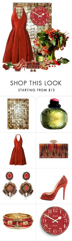 """Make the most of your day coz time ticks away"" by whiteflower7 ❤ liked on Polyvore featuring Benzara, Yves Saint Laurent, Halston Heritage, Judith Leiber, Ranjana Khan, Christian Louboutin, Spring Street and Newgate"