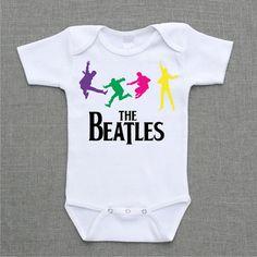 The Beatles Paul Mccartney John Lennon Ringo Starr George Harrison Onesie Baby Bodysuit or Shirt cute funny baby gift under 25