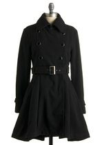 Love coats that look like dresses. It's nice to look as good in a coat as the outfit underneath it.