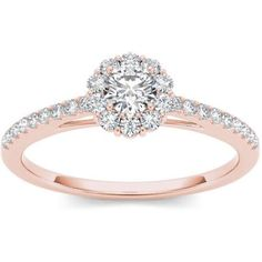 Imperial 1/2 Carat T.W. Diamond 10kt Rose Gold Engagement Ring