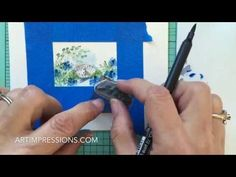 Art Impressions Blog: NEW VIDEO! Watercolor Wednesday Series - Small Square Frame