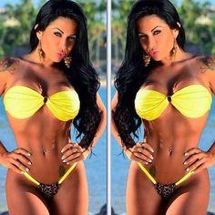 Dannita Bruna Yellow bikini