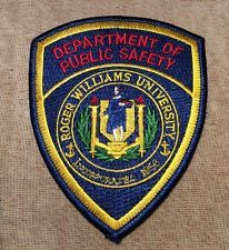 Roger Williams University Rhode Island Public Safety Patch Police Patches, American Children, Rhode Island, Badges, Safety, College, Ebay