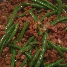 Green Beans and Beef (change ginger to 1 1/2 tsp)