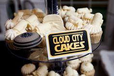 Turning 30, Star Wars Style. These chai spiced cupcakes look amazing - and how about these white chocolate R2D2's??