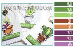 Go Green Copic Marker Color Combo + Honey Bee Stamps Sneak Peek