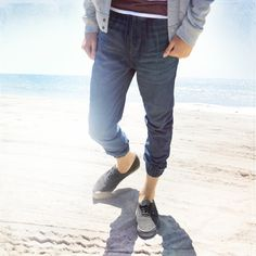 The Hollister Denim Jogger Pant perfect for summer