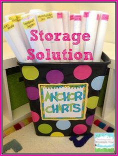 Step into 2nd Grade with Mrs. Lemons- Anchor chart storage for teachers