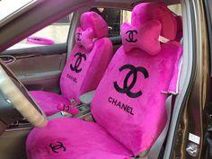 chanel seat covers  | Classic Chanel Universal Plush Velvet Auto Car Seat Cover 10pcs Sets ...