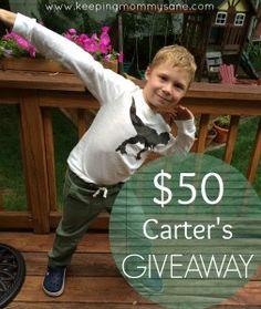 Win a $50 Carter's Gift Card! #CartersFallStyle www.keepingmommysane.com