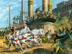 Chariot race in the Circus Maximus.