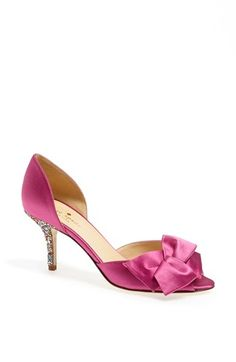 Free shipping and returns on kate spade new york 'sala' pump at Nordstrom.com. A gorgeously folded bow lends graceful sophistication to a lustrous satin peep toe pump with a curvy d'Orsay silhouette.