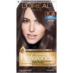 L'Oréal Paris Superior Preference Permanent Hair Color At Home Hair Color, Red Hair Color, Brown Hair Colors, Box Hair Dye, Box Dye, Dyed Hair, Rose Blonde, Brown To Blonde, Blonde Hair