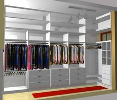 Ideas For Narrow Closet Designs Small Closet Design Tool, Custom Closet Design, Walk In Closet Design, Bedroom Closet Design, Master Bedroom Closet, Closet Designs, Organizing Walk In Closet, Walk In Closet Small, Small Closet Space