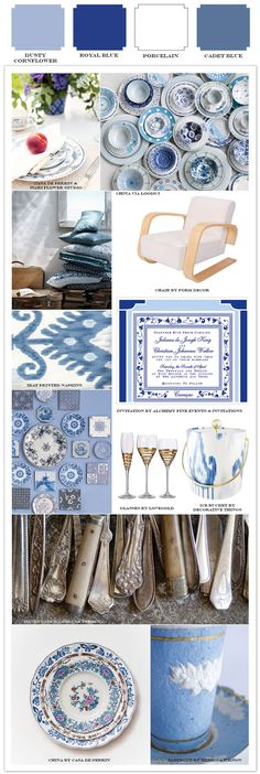 Delft Dutch Blue Wedding & Event Design Inspiration - updated with blue ikat & pops of glamourous gold!