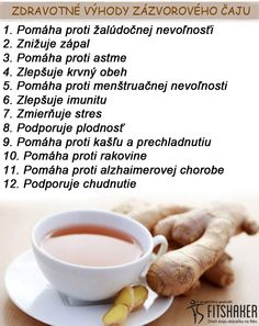 Máš chuť na čaj? Čo tak dať si zázvorový? :-) Dieta Detox, Nordic Interior, Healing Herbs, Health Tips, Healthy Lifestyle, Food And Drink, Health Fitness, Healthy Recipes, Drinks