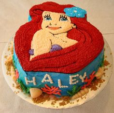 Ariel The Little Mermaid Cake by South Florida Cake Lady
