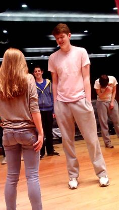 Boy asks girl to prom during drama club practice. This is sooo cute! Must watch!
