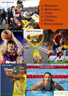 """""""¡Qué interesante! Sugerencia para la actividad de Inicio de sesión. Deportistas españoles y deportes en español. Generación 3.0. A2. EnclaveELE."""