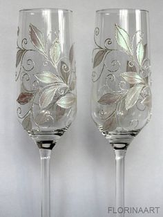 Check out this item in my Etsy shop https://www.etsy.com/listing/215108072/wedding-fluteschampagne-toasting-glasses