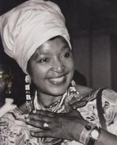 Winnie Mandela - First Black Social Worker in South Africa; Former Leader of the African National Congress, Women's League, Member of the ANC's National Executive Committee; Ex-wife of former South African president