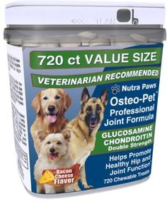 Osteo Pet Glucosamine Chondroitin for Dogs - 720 Ct Value Size *** Trust me, this is great! Click the image. : Products for dogs