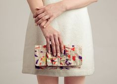 tbt to our first Frenchie clutch from 2010, Pop Floral, made with vintage Japanese silk fabric.