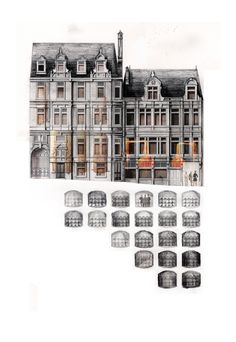 Matt Drury / recollections of a forgotten facade and distillery; concept image