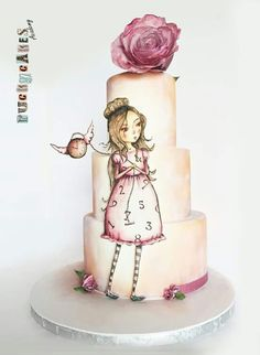 Painted 2 D cake love!
