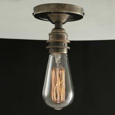 Mullan Lighting Design & Manufacturing. BEXTER VINTAGE FLUSH CEILING LIGHT   Vintage Ceiling Light by Mullan Lighting