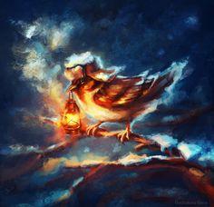 Sparrow, Elena Dudnakova on ArtStation at https://www.artstation.com/artwork/sparrow-1219963e-31a5-4097-81dc-2c1ee7edd769