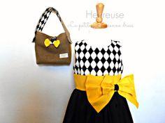 La petite Jérémienne dress with cute little bag, https://www.etsy.com/people/labelleheureuse?ref=si_pr