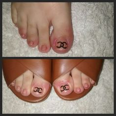 Nail#art#coco#chanel#